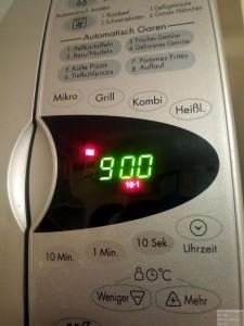 Heißluftfunktion im Bedienpanel