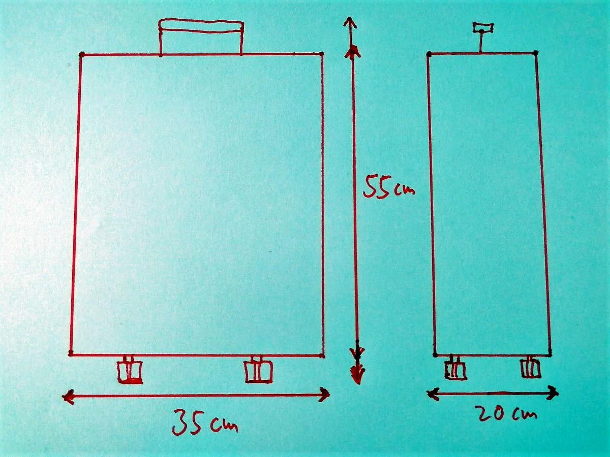 Grafik Handgepäck Abmessungen