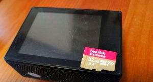 Action-Cam mit Speicherkarte