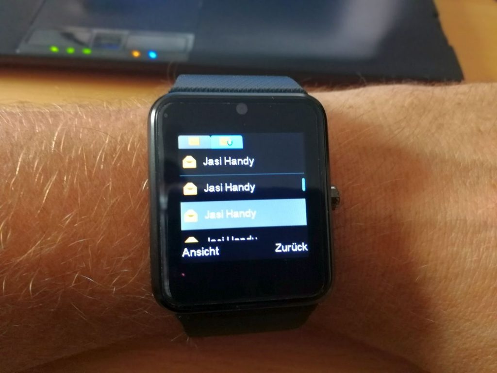 Yamay Smartwatch SMS Eingang