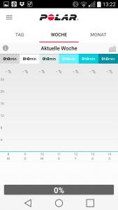 Screenshot Wochen-Übersicht Polar Flow App