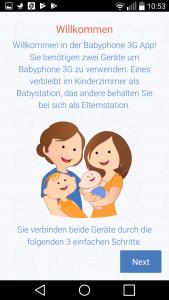 Eine Babyphone App