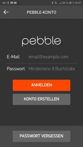 Die Pebble App