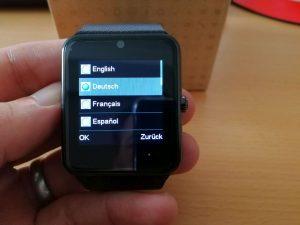 Sprachauswahl Smartwatch