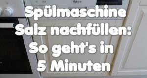 Spülmaschine brauchen Spezialsalz zum Reinigen