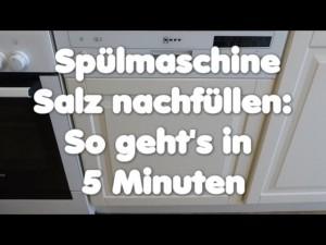 Spülmaschine Salz Nachfüllen Spülmaschinensalz Für Den Geschirrspüler