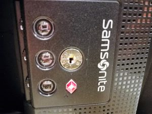 TSA-Zahlenschloss bei Samsonite Koffer