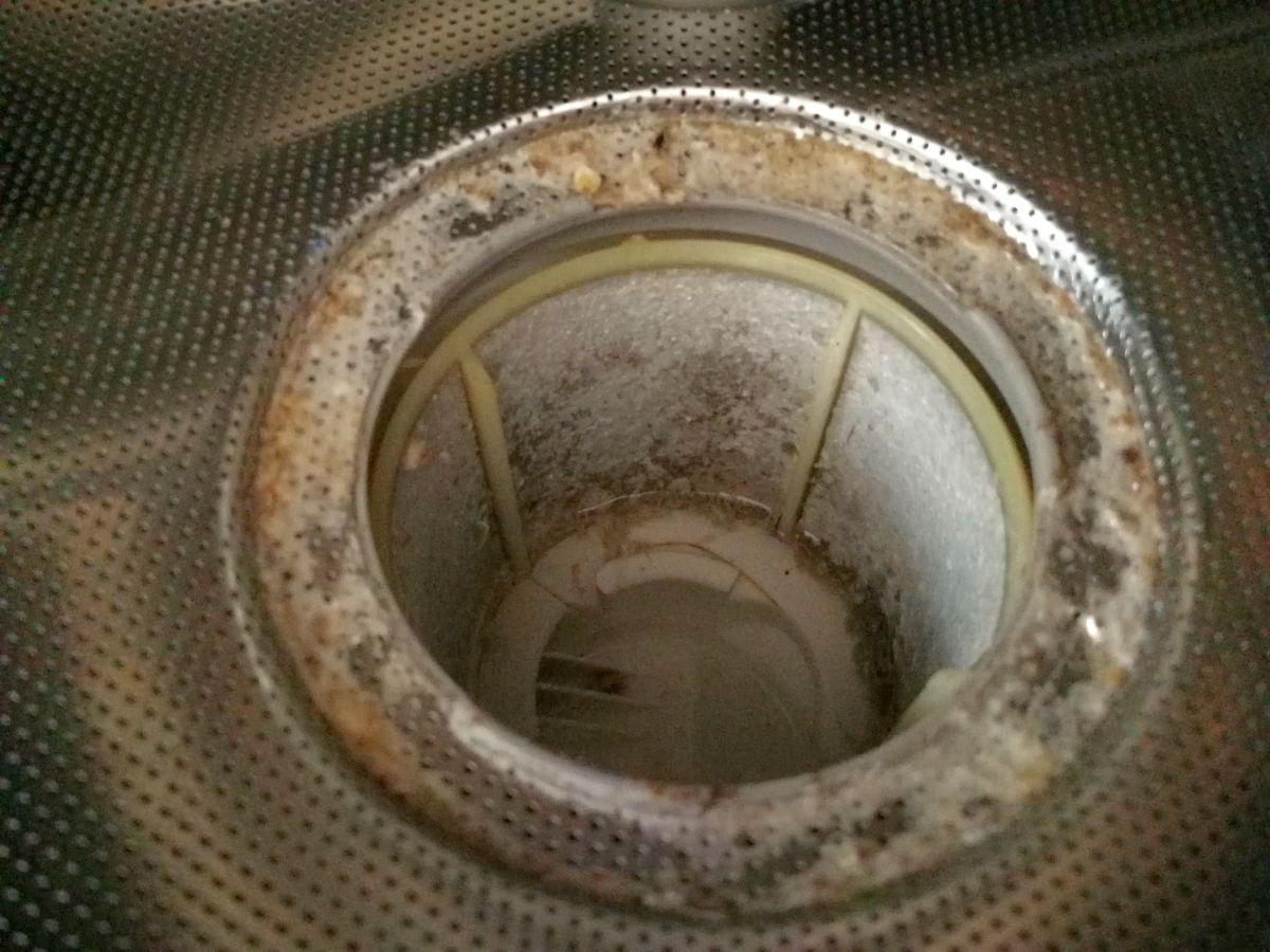 Abfluss Spülmaschine offen