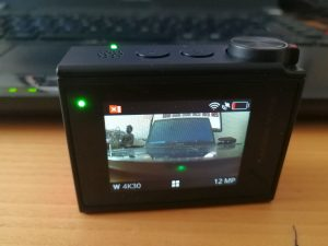 Action-Cam filmt