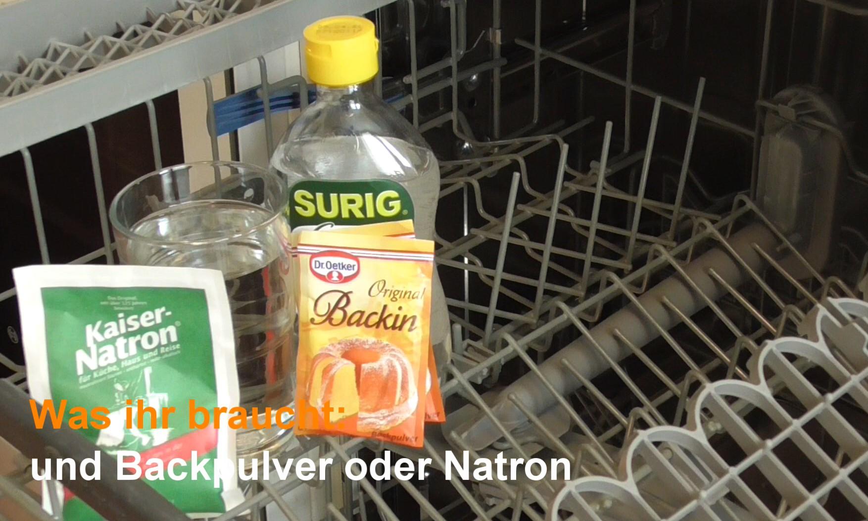Backpulver oder Natron & Essig