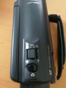 Camcorder Aufnahmetasten oben