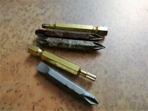 Bits eines Akkuschraubers