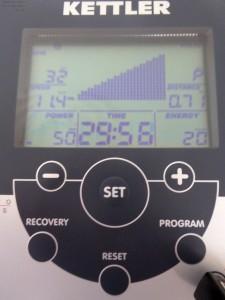 Anzeige mit Pulsfrequenz auf dem Trainingscomputer