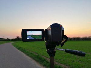 Camcorder beim Videodreh