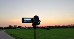Camcorder filmt Natur