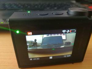 Display der Garmin Virb Ultra 30 Action-Cam