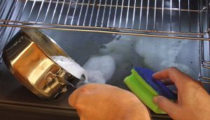 Die Mischung nun im Ofen verteilen