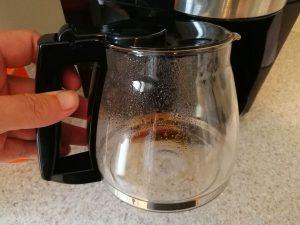 Glaskanne einer Filterkaffeemaschine
