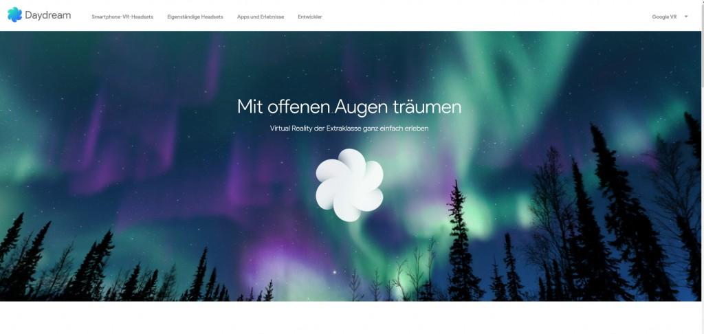 Plattform Daydream von Google