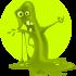grünes Schleimmännchen