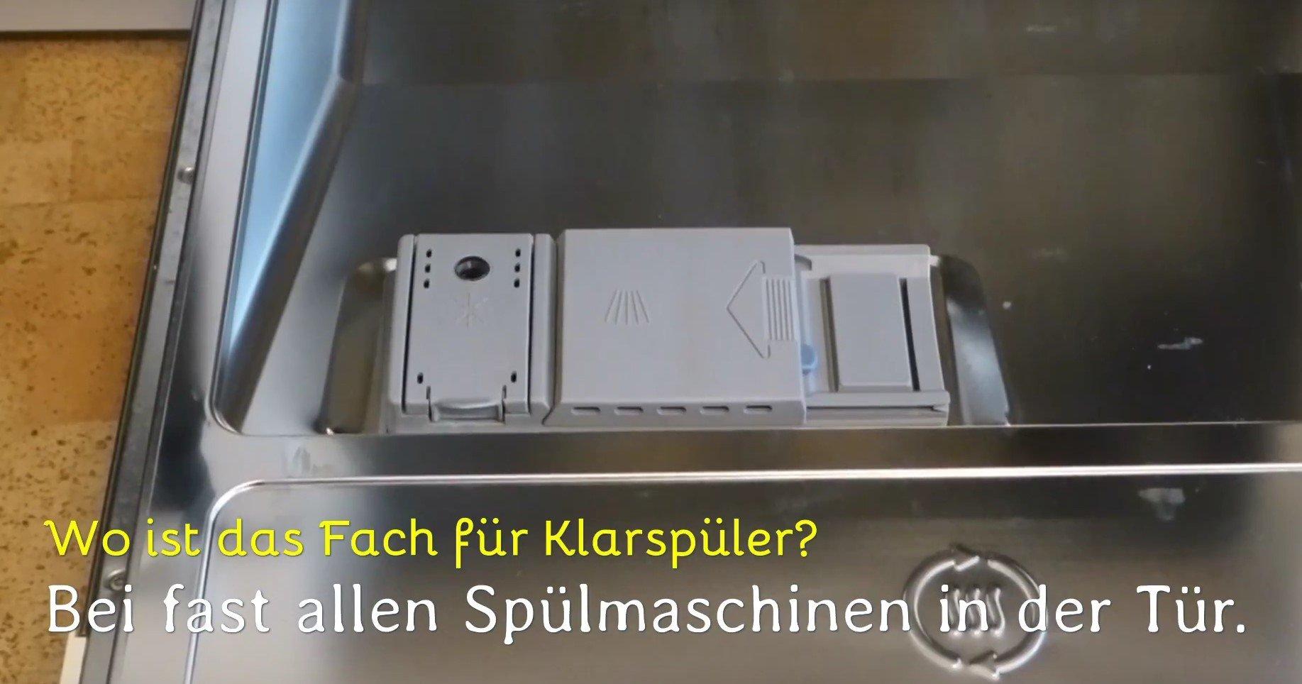 Bevorzugt Spülmaschine Klarspüler nachfüllen - So geht's - Testsguide.de KR33