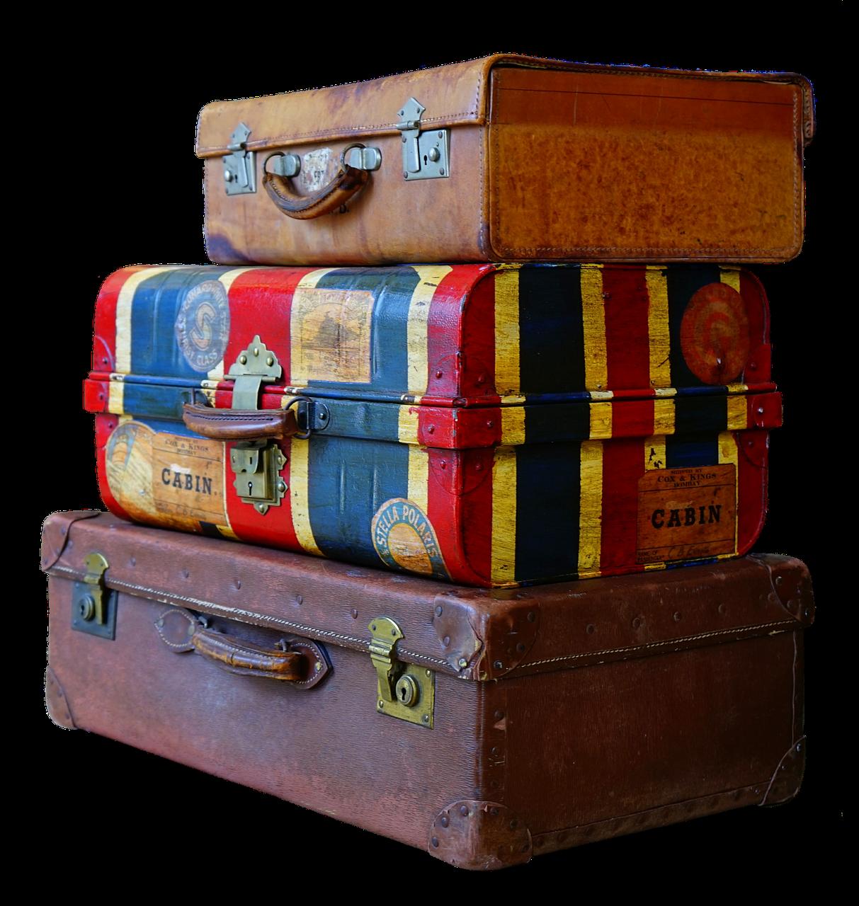 Historische Koffer aus Leder