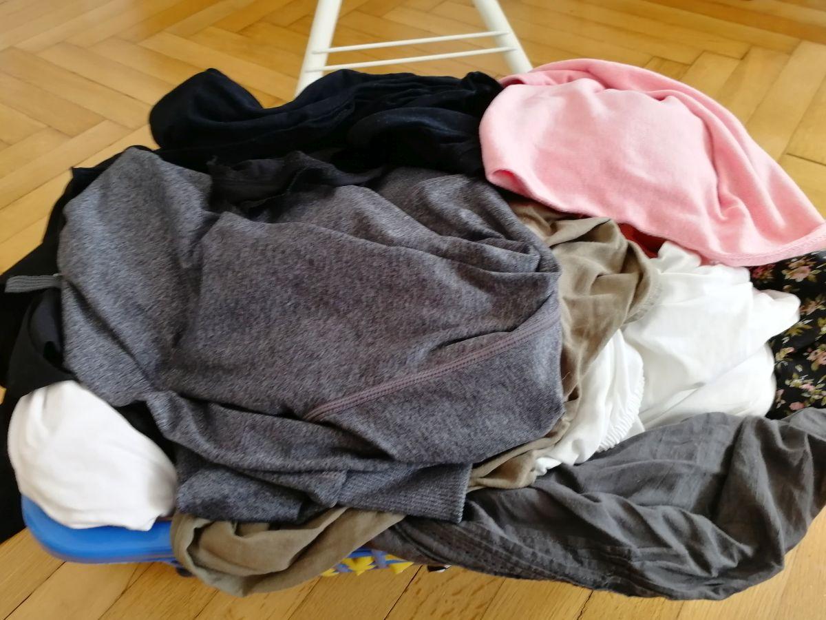 Korb Bügelwäsche