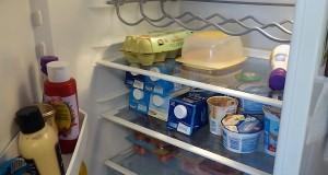 Richtig eingeräumter Kühlschrank