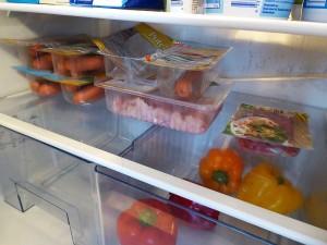 Ablagefach für Fleisch und Wurst