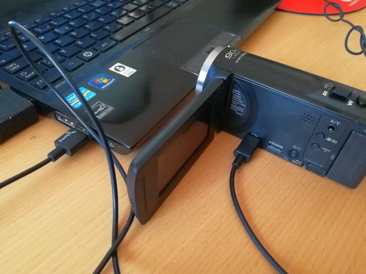 USB-Anschluss am Camcorder
