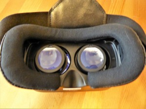 Linsen einer VR-Brille