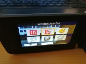 Einstellungen beim Panasonic HC-V180 Camcorder