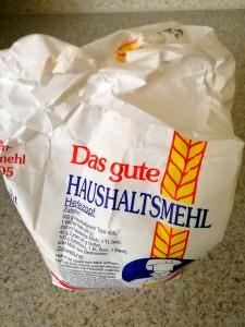 Mehl zum Brot backen