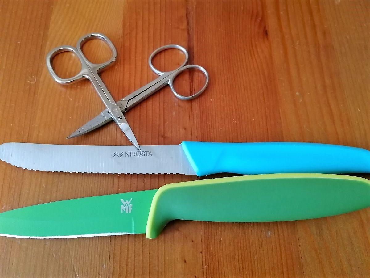 Messer und Nagelscheren