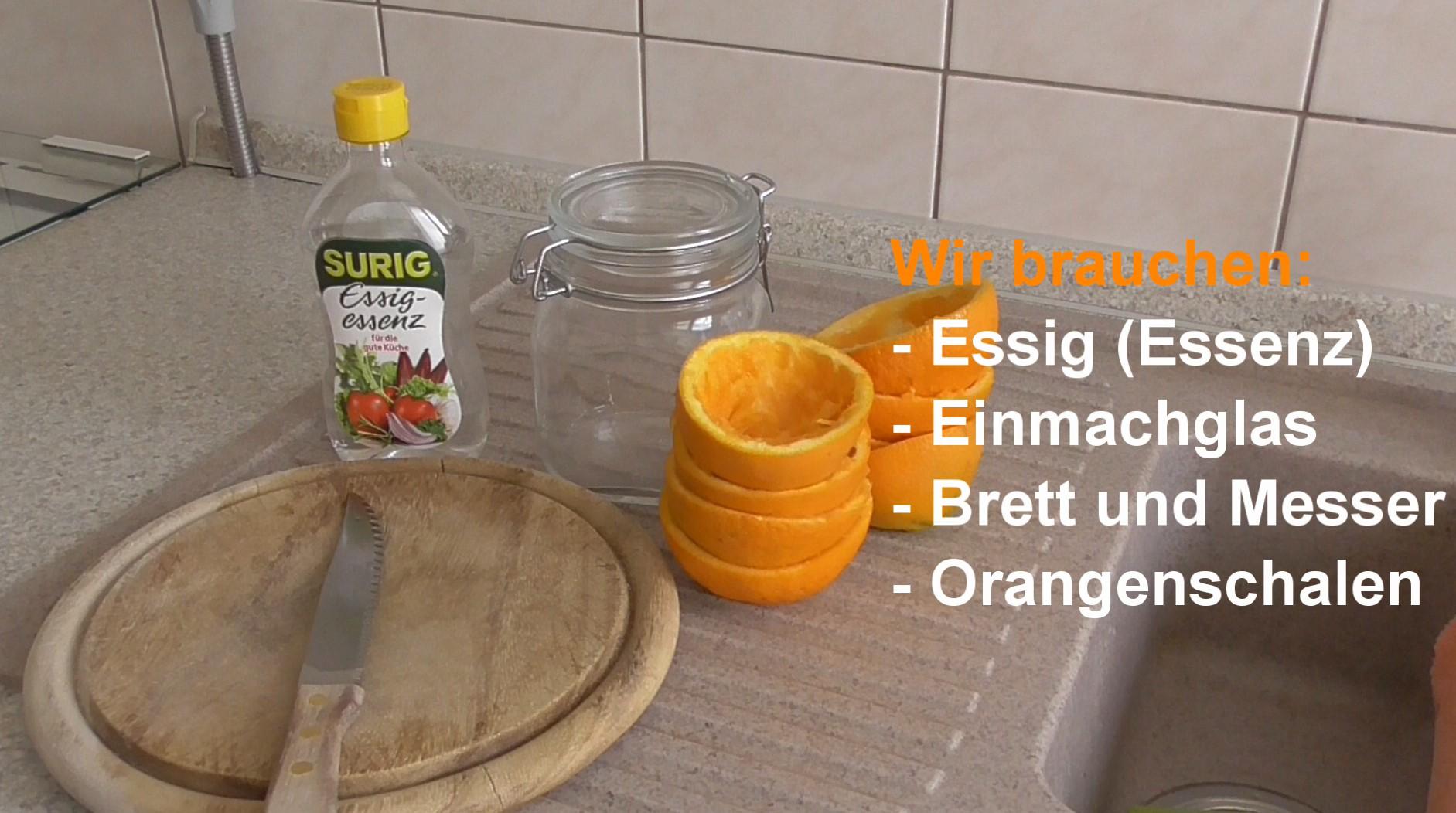 Orangen essigreiniger selber machen mit den hausmitteln