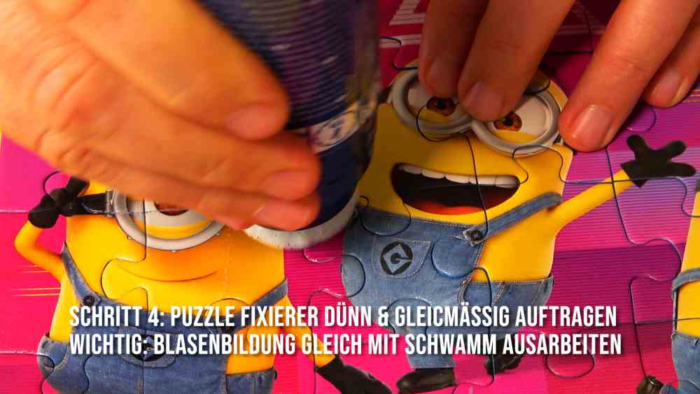 Puzzle kleben am Beispiel