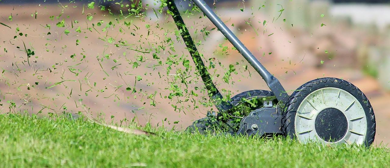 Rasenmähen mit Spindelmäher