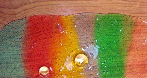 farbiger Regenbogenschleim
