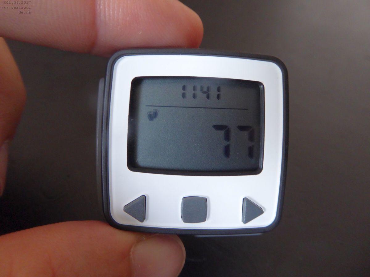 Ein Schrittzähler mit Fitness-Tracker