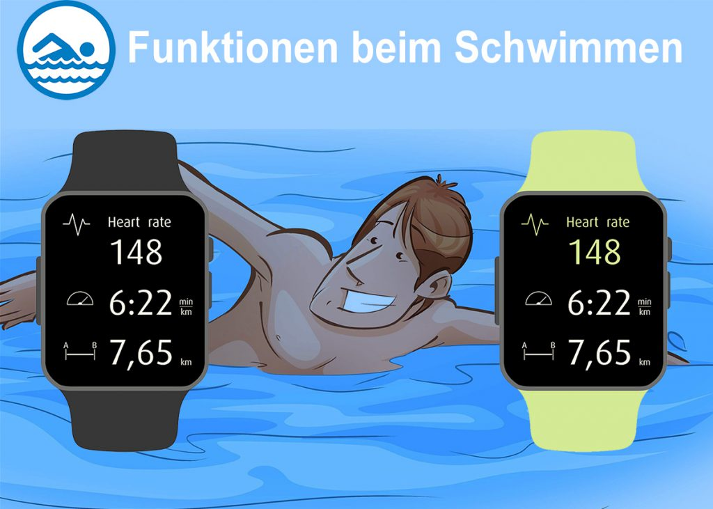 Schwimmtracker Illustration