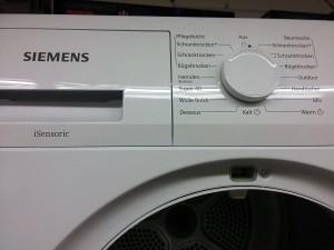 Siemens Programme mit Drehregler
