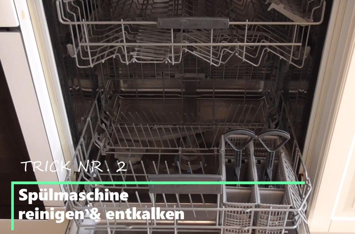 Spülmaschine vorne offen