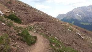steiler Bergweg