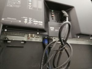 Anschlüsse an einem TV-Gerät