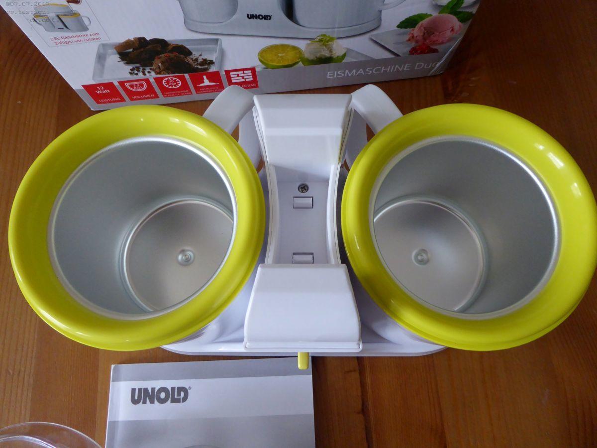 Unold Duo Eismaschine mit Kühlmittel