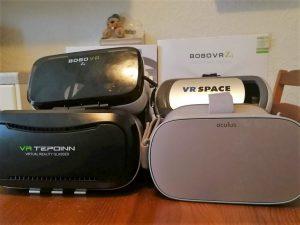 Mehrere getestete VR Brillen