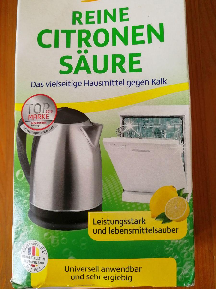 Zitronensäure Packung