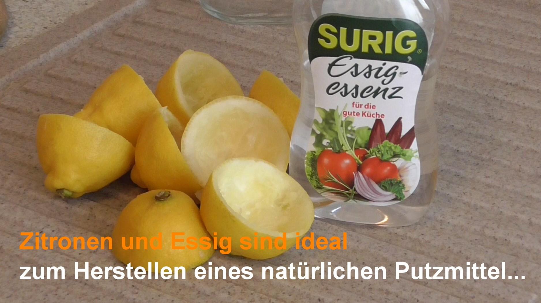 Zitronen und Essigessenz